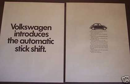 Volkswagen Bug Beetle Automatic Stick Shift Car (1968)