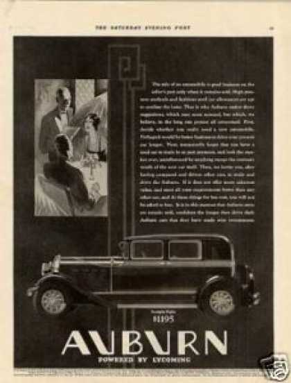 Auburn Straight Eight Car (1930)