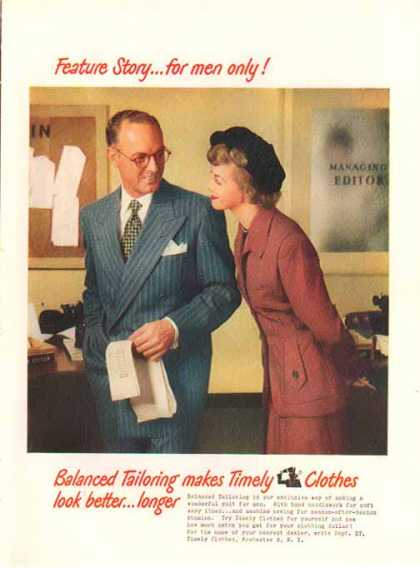 Timely Clothes – Feature Story For Men Only (1949)