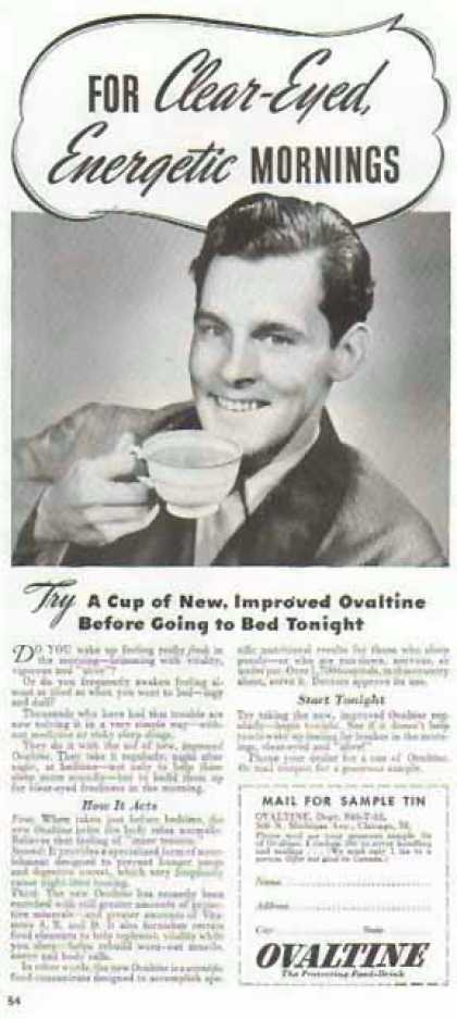 Ovaltine – Clear Eyed Energetic Mornings (1940)