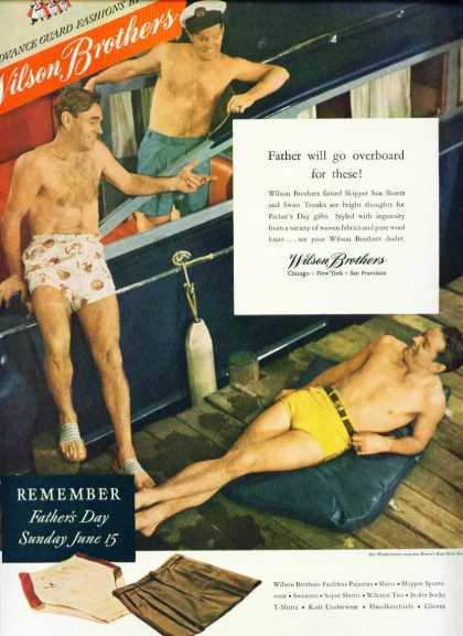 Men In Wilson Brothers Sun Shorts Ad Gay Interest (1947)