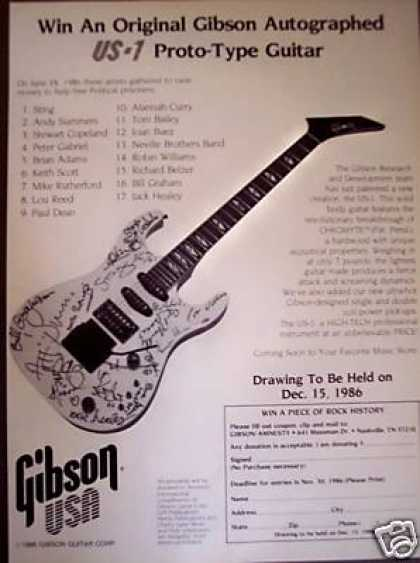 Gibson Proto-type Signed Guitar Giveaway Promo (1986)
