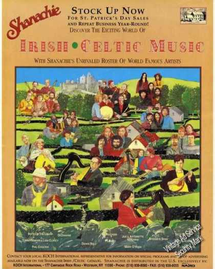 Irish Celtic Music Artist Drawing Art Shanachie (1991)