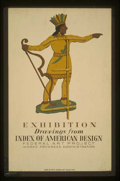 Exhibition – drawings from Index of American Design – Federal Art Project Works Progress Administration. (1936)