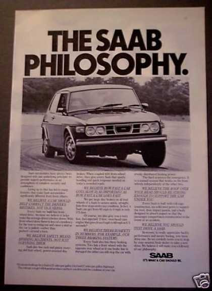 Saab 'it's What a Car Should Be' (1975)