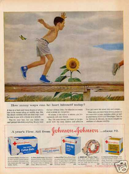 Johnson & Johnson Ad John Falter Art (1959)