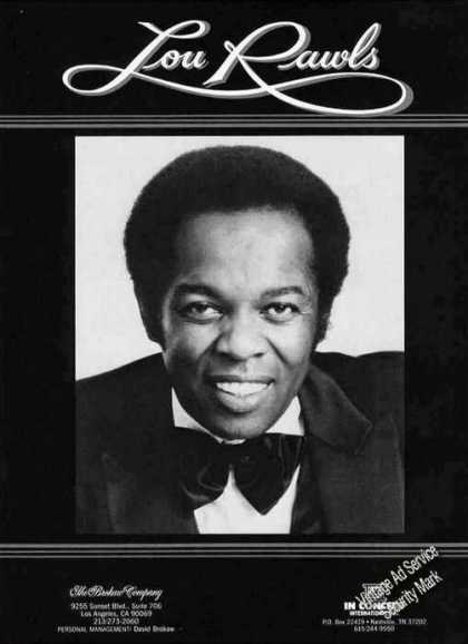 Nice Lou Rawls Photo Booking (1986)