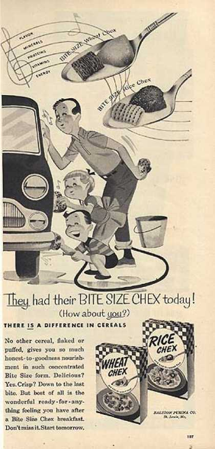 Ralston's Wheat Chex (1954)