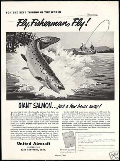 United Aircraft Salmon Fisherman Quebec Ruddy (1952)