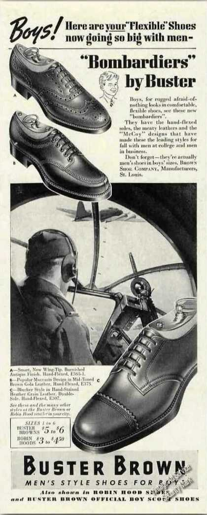 Buster Brown Men's Style Shoes for Boys (1942)