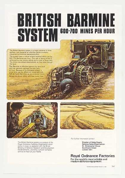 Royal Ordnance Factories British Barmine System (1980)