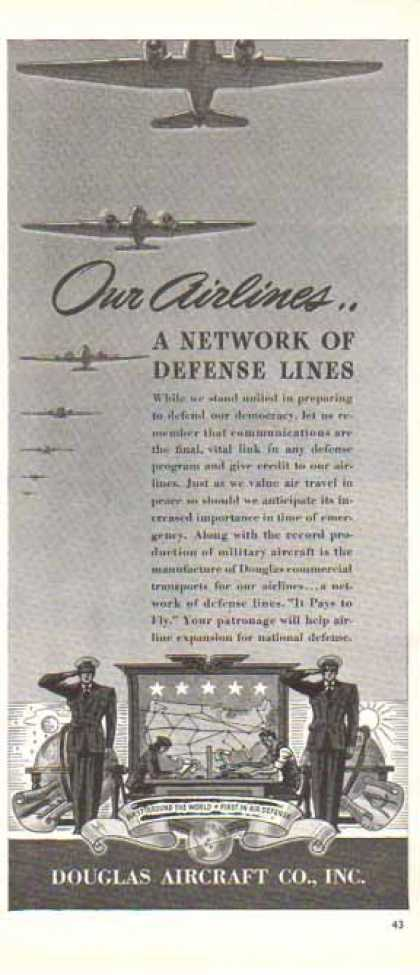 Douglas Aircraft – Network of Defense Lines (1940)