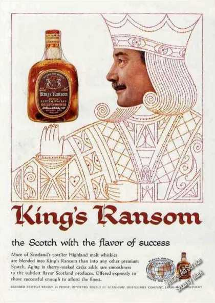 "King's Ransom Scotch ""Flavor of Success"" (1957)"