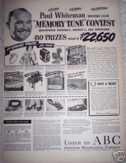 Memory Tune Contest Music Abc Radio (1948)