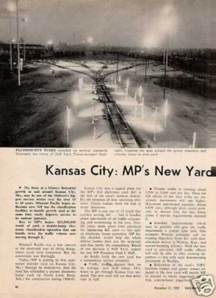"""Kansas City : Mp's New Yard Goes To Work"" Article (1959)"