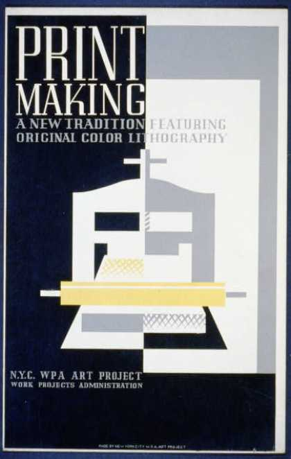 Print making – A new tradition featuring original color lithography. (1936)