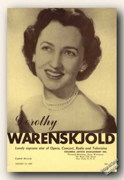 Dorothy Warenskjold Photo Soprano Opera (1957)