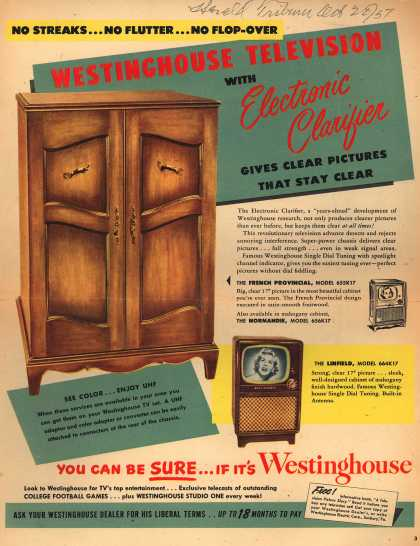 Westinghouse Electric Corporation's Televisions with Electronic Clarifier – Westinghouse Television with Electronic Clarifier (1951)