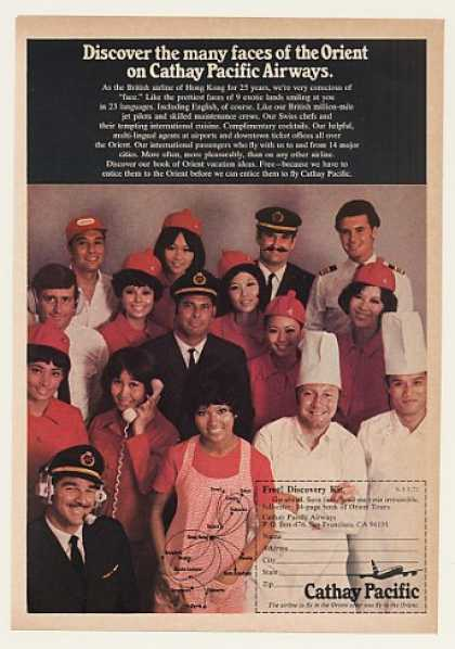 Cathay Pacific Airways Crew Faces of Orient (1971)