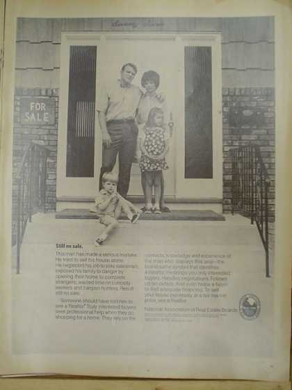 National Association of Real Estate Boards. Still no sale. Family theme (1969)