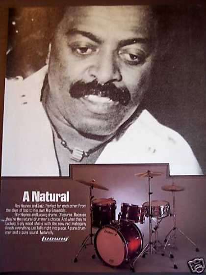 Drummer Roy Haynes Photo Ludwig Drums (1980)
