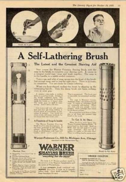 Warner Fountain Shaving Brush (1918)
