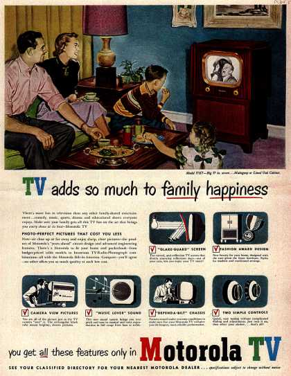 Motorola's Television – TV adds so much to family happiness (1951)