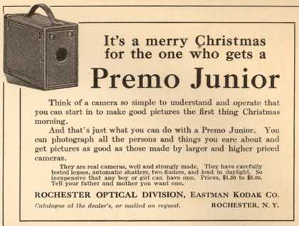 Kodak's Premo Jr. cameras – It's a merry Christmas for the one who gets a Premo Junior (1911)
