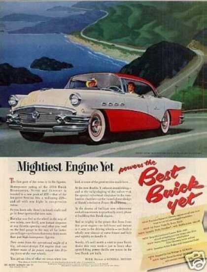 "Buick Super Car Ad ""Mightiest Engine Yet... (1956)"