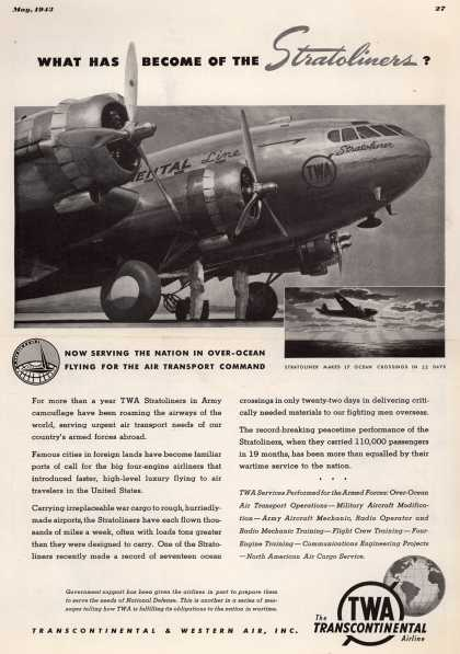 Transcontinental & Western Air – What has become of the Stratoliners? (1943)