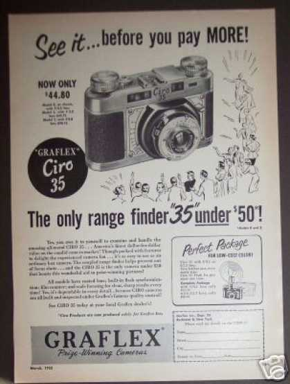 Graflex Ciro 35 Range Finder Camera (1952)
