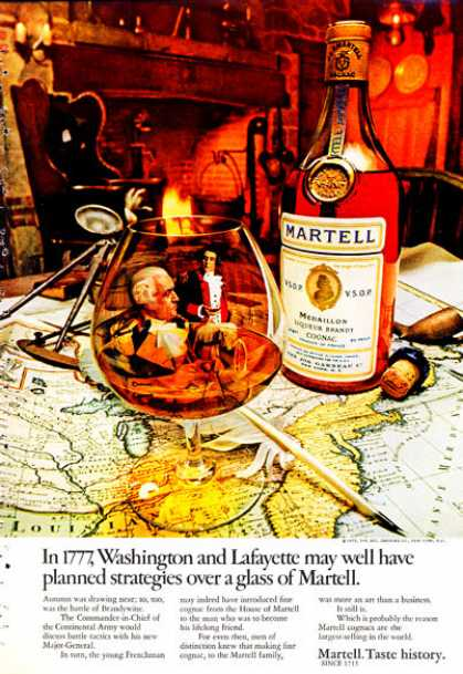 Martell Brandy Gognac Washington Lafayette (1972)