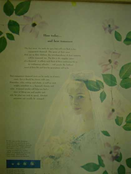 DeBeers Consolidated Mines A diamond is forever. Bride theme (1953)