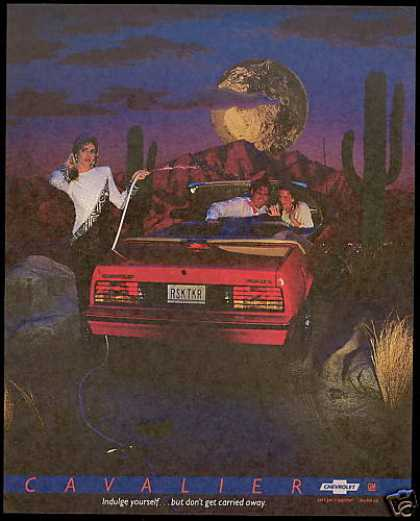 Chevrolet Cavalier Convertible Car Cactus (1987)