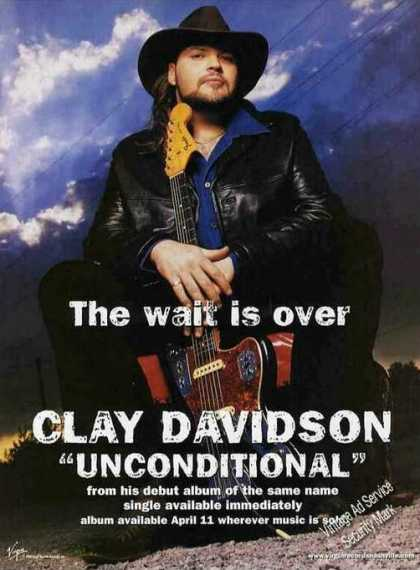 "Clay Davidson Photo ""Unconditional"" Debut Album (2000)"