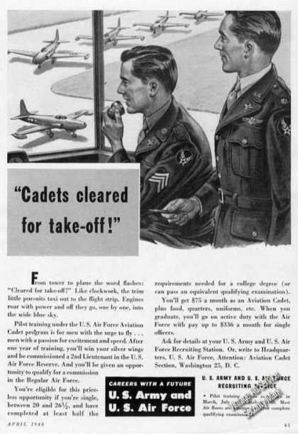 Us Army/us Air Force Cadets Cleared for Takeoff (1948)