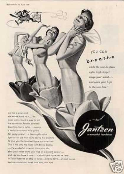 "Jantzen Girdles Ad ""You Can Breathe... (1950)"