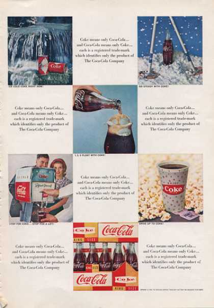 Coke Bottle Can Float Fountain 6-pak (1962)