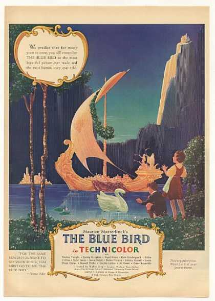 The Blue Bird Movie Viking Ship art (1940)