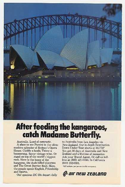 Sydney Opera House Photo Air New Zealand (1979)
