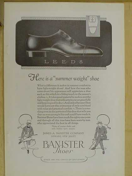 Banister Shoes. Leeds. A summer weight shoe (1926)