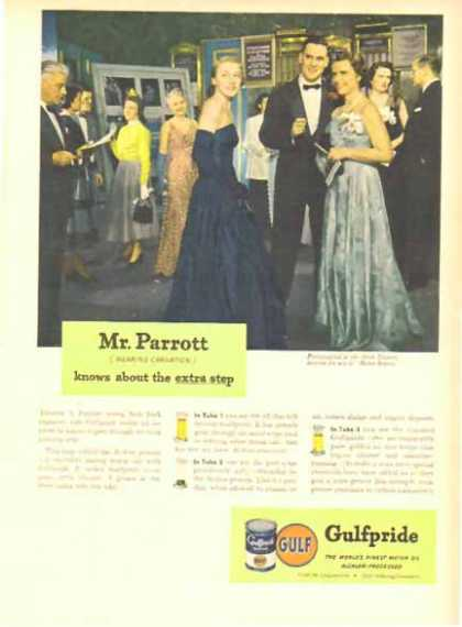 Gulf Pride Motor Oil – Thomas Parrott – New York Exporter (1949)