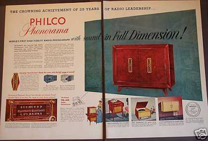 Philco Phonorama Radio-phonograp (1953)