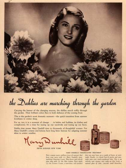 "Mary Dunhill's ""Change-over"" Treatment – The Dahlias are marching through the garden (1943)"