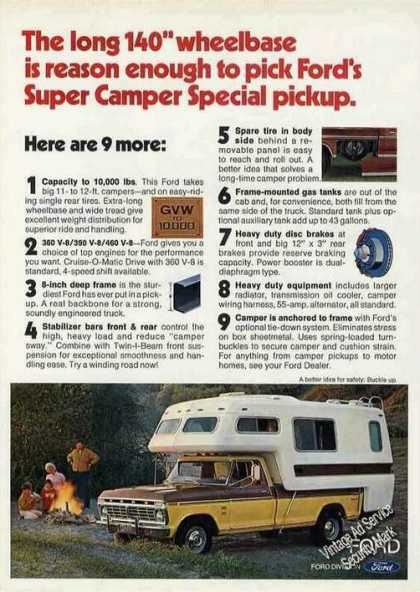 Ford Super Camper Special Pickup Photo (1974)
