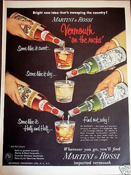 Martini & Rossi Sweet and Dry Vermouth (1954)