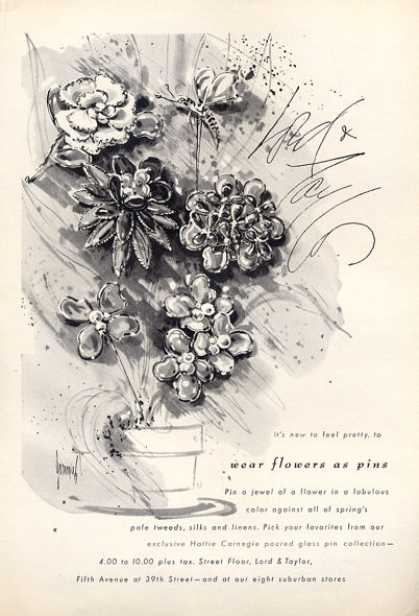 Lord & Taylor Flower Arrangement Art (1964)