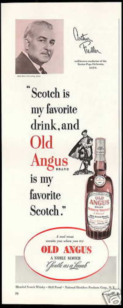 Old Angus Scotch Arthur Fiedler Photo (1952)