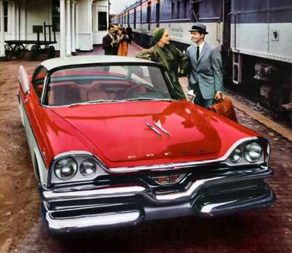 Dodge Royal Lancer at Charlevoix Station (1957)