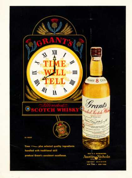 Grants Scotch Whisky Bottle (1957)